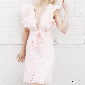 Lulus Pink Ruffle Dress